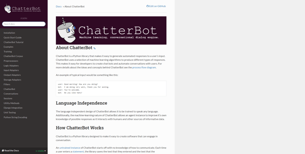 Chatterbot ai