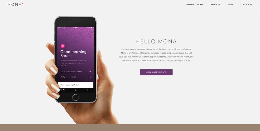 Mona chatbot app