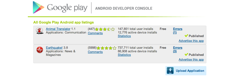 App store vs google play stores in numbers master of - Google play store developer console login ...